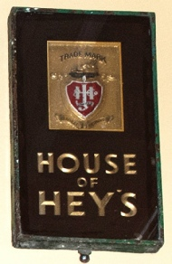 House of Hey's wall plaque, Andrew Wright's collection, Jubilee Refreshment Rooms, Sowerby Bridge Railway Station. Picture Mark Mortimer