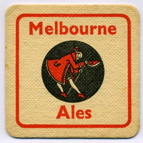 Melbourne beermat after takeover of Russells 1958