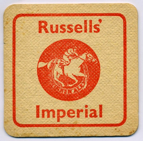 Melbourne beermat after takeover of Russells 1958.